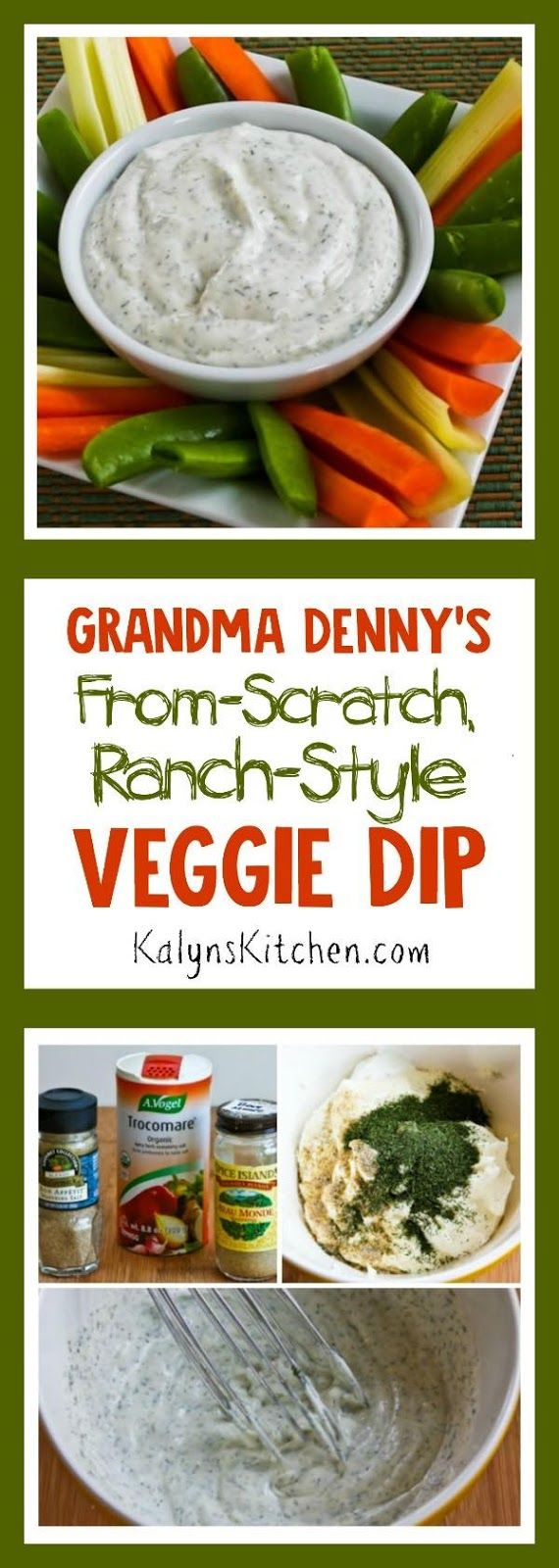 how to make ranch dip from scratch