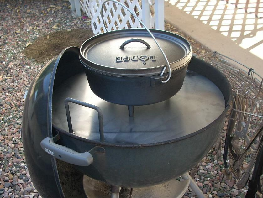 Dutch Oven Cook Table For A Weber Charcoal Grill Dutch Oven Cooking Oven Cooking Dutch Oven Table