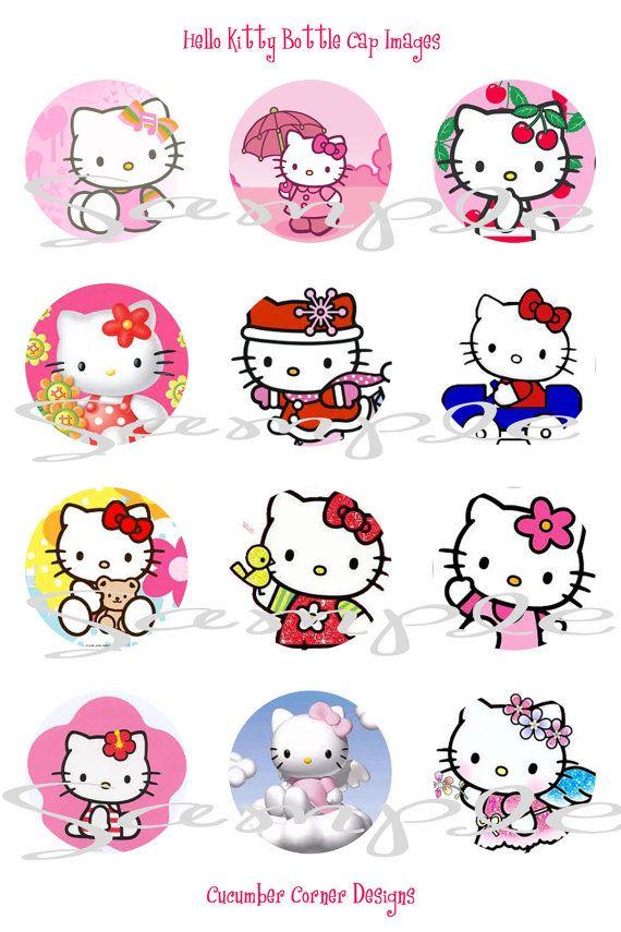 Hello Kitty 1 Inch Digital Collage