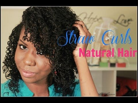 Straw Curls On Two Strand Twist - Natural Hairstyle - YouTube ...