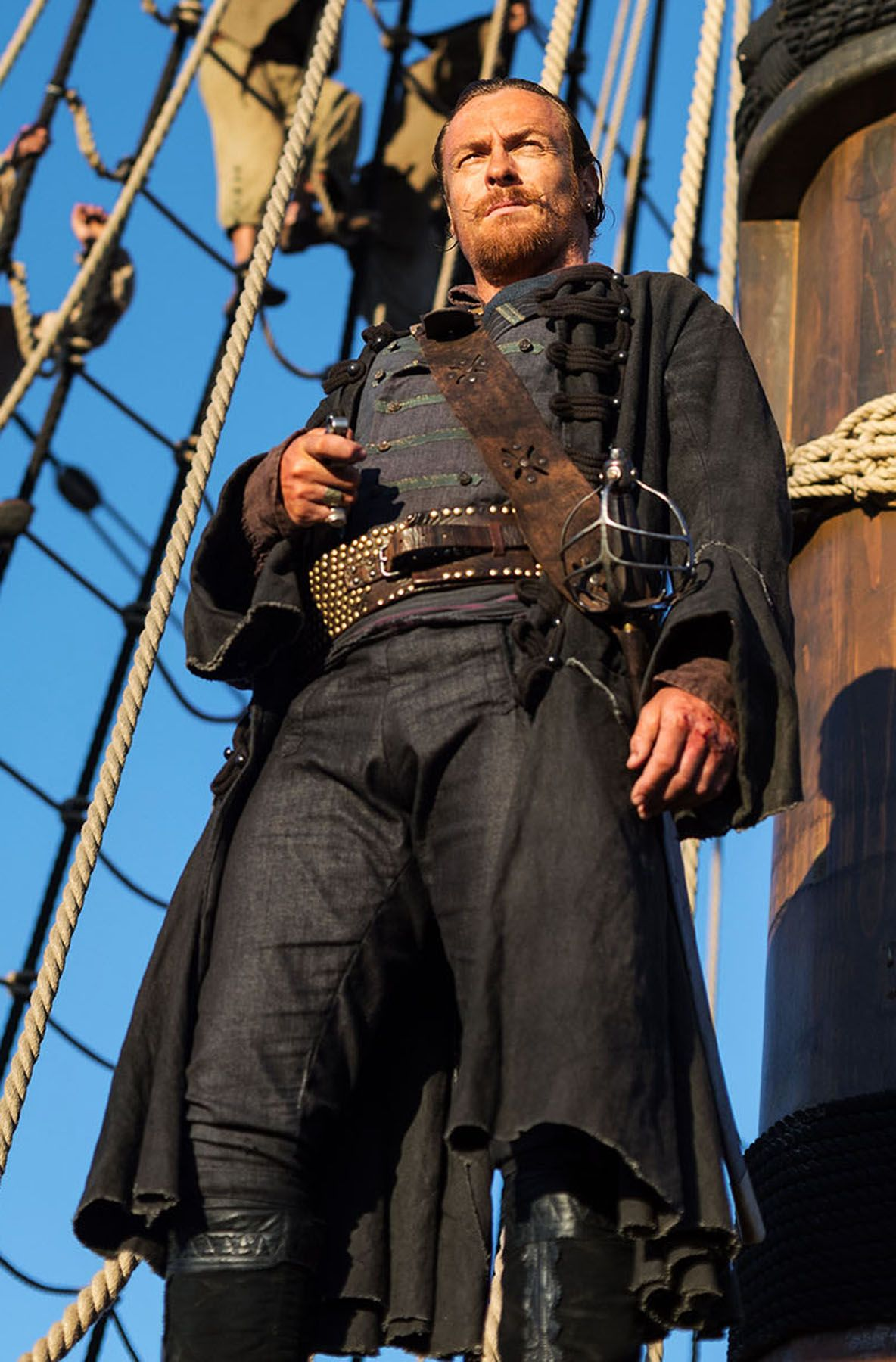 Black sails s3 pirate captain flint leather coat - Sebastian Macisaac Actor Is Toby Stephens The Jezebel S Daughter Pinterest Black Sails Toby Stephens And Tv Series