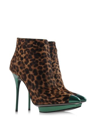 leopard and metallic green - ERNESTO ESPOSITO