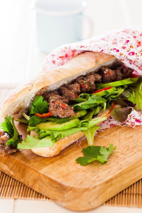 Paleo of geen paleo en vietnamese sandwich pinterest beef lemongrass beef skewers in baguettes forumfinder Gallery