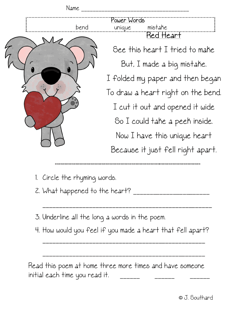 Kids Reading Comprehension Worksheets For Grade Graders