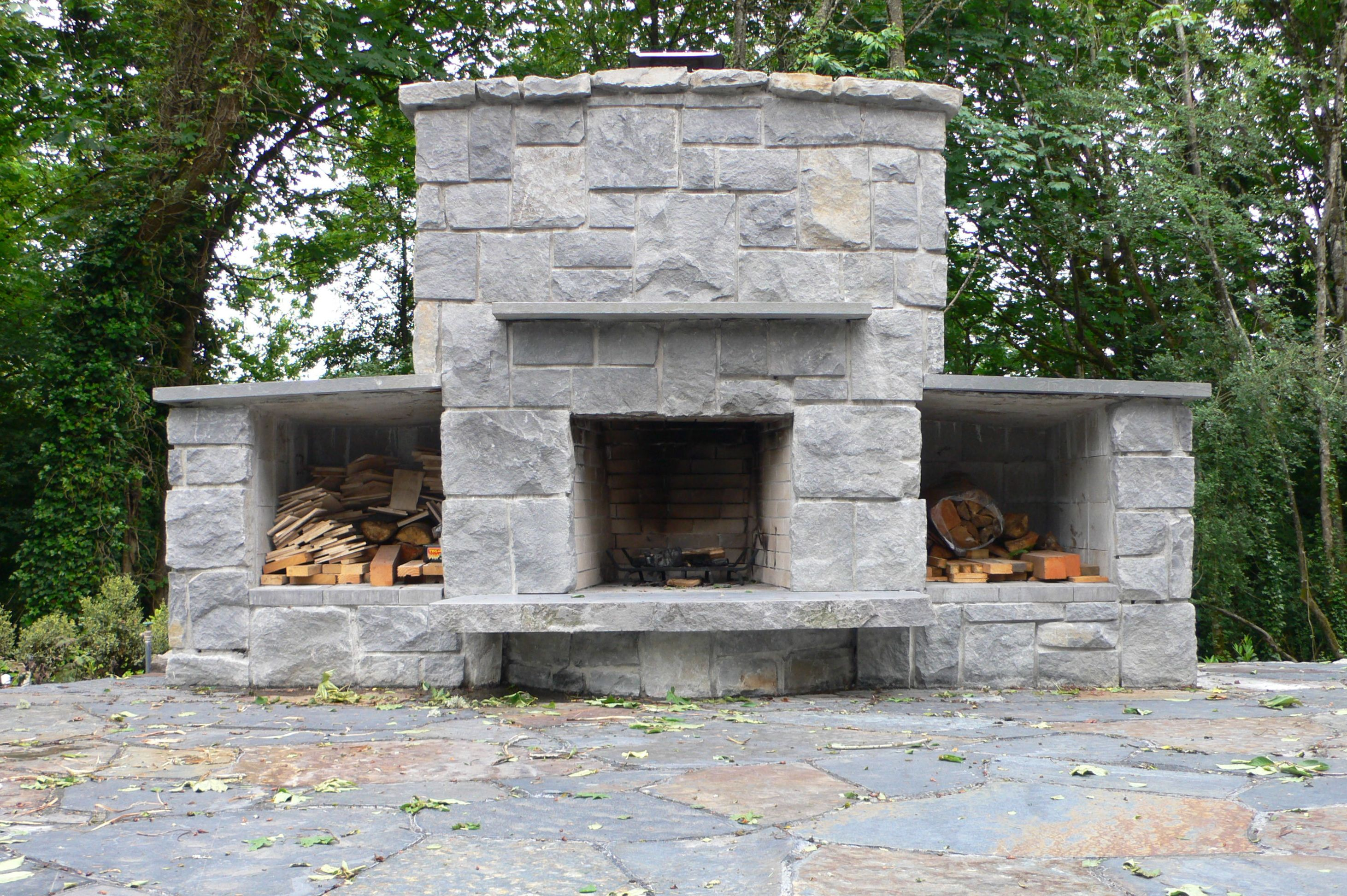basalt fireplace landscape east west portland oregon http