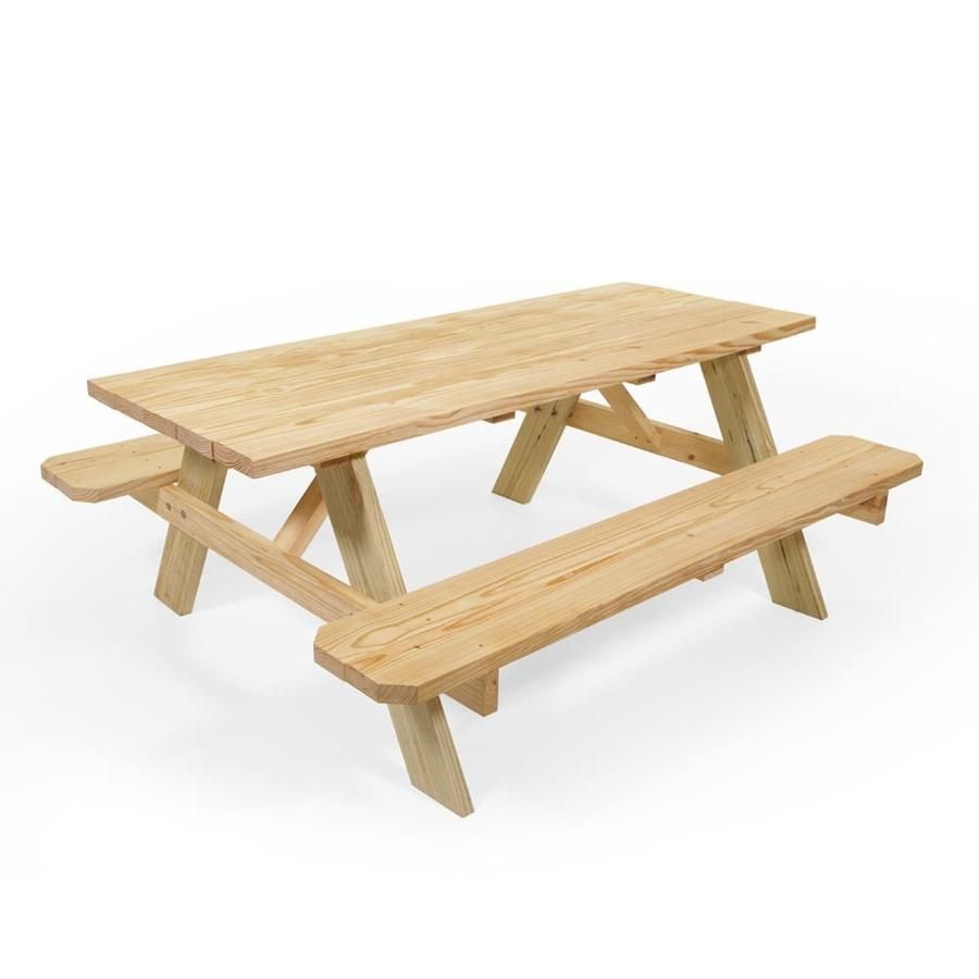 72 In Brown Southern Yellow Pine Rectangle Picnic Table At Lowes