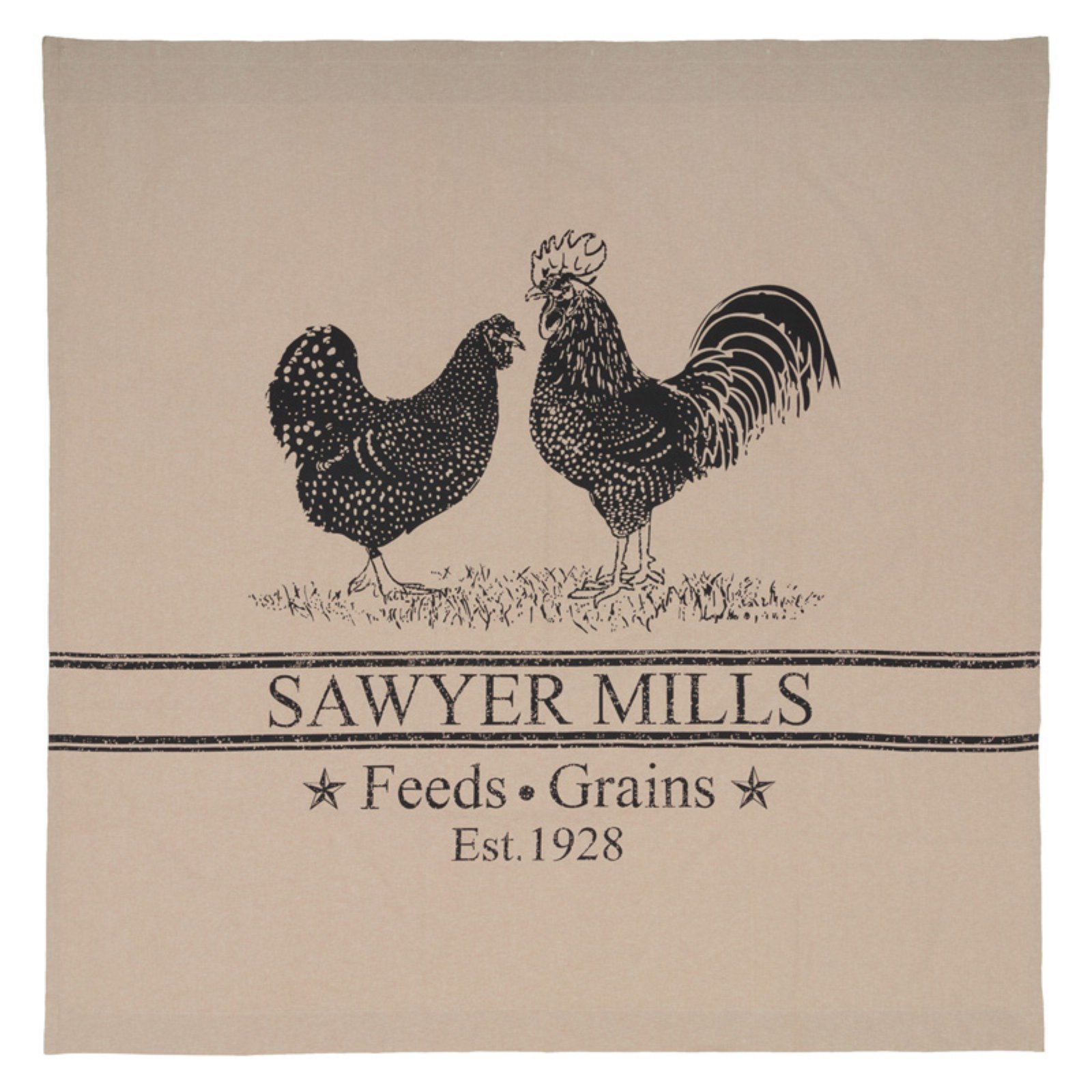 Sawyer Mill Rooster Shower Curtain By Vhc Brands Cotton Shower