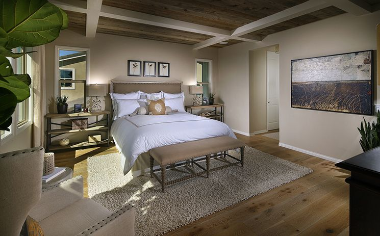 Residence 2 - Master bedroom with beautiful ceiling at ...