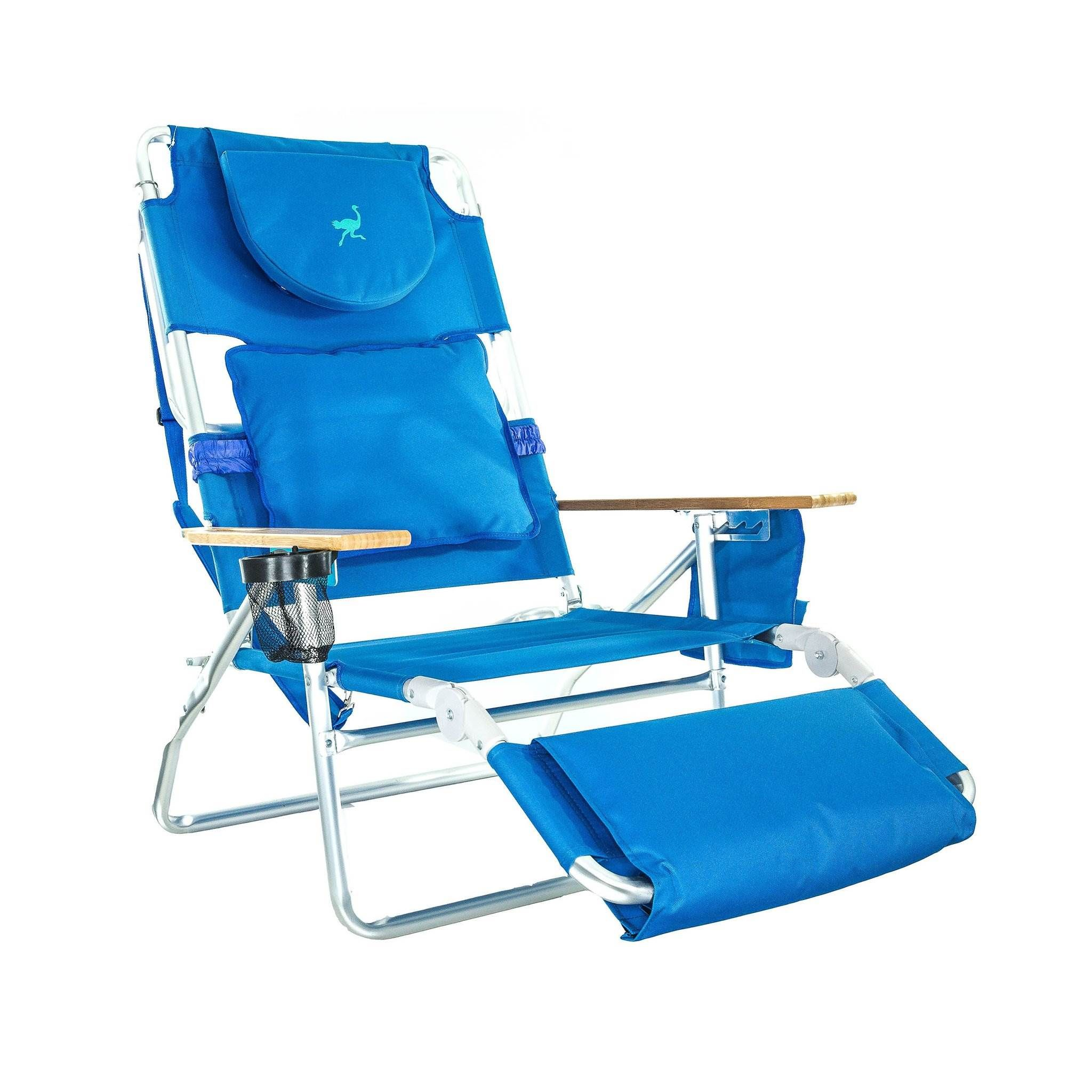 Ostrich Deluxe Padded 3N1 Outdoor Lounge Reclining Beach