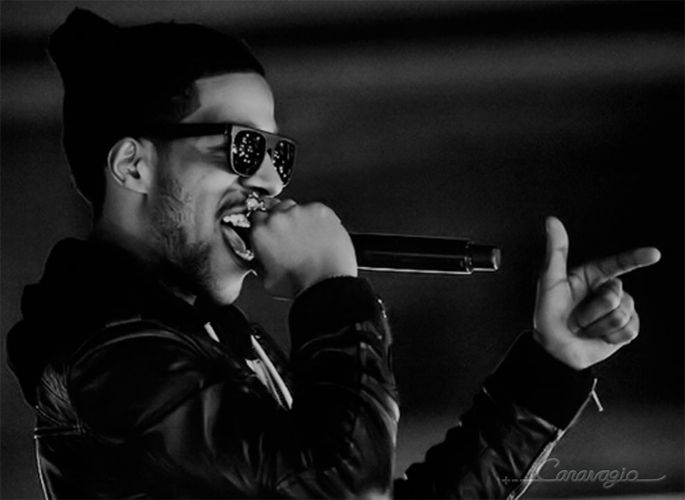 Rapper/Actor: Kid Cudi in the Caravagio Black Gloss 'Visionario' Sunglasses