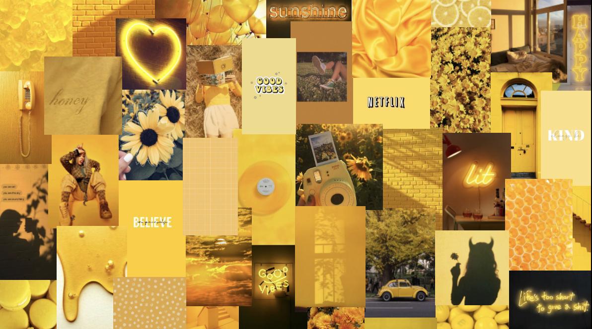 Yellow Alannahg03 In 2021 Cute Laptop Wallpaper Cute Desktop Wallpaper Aesthetic Desktop Wallpaper