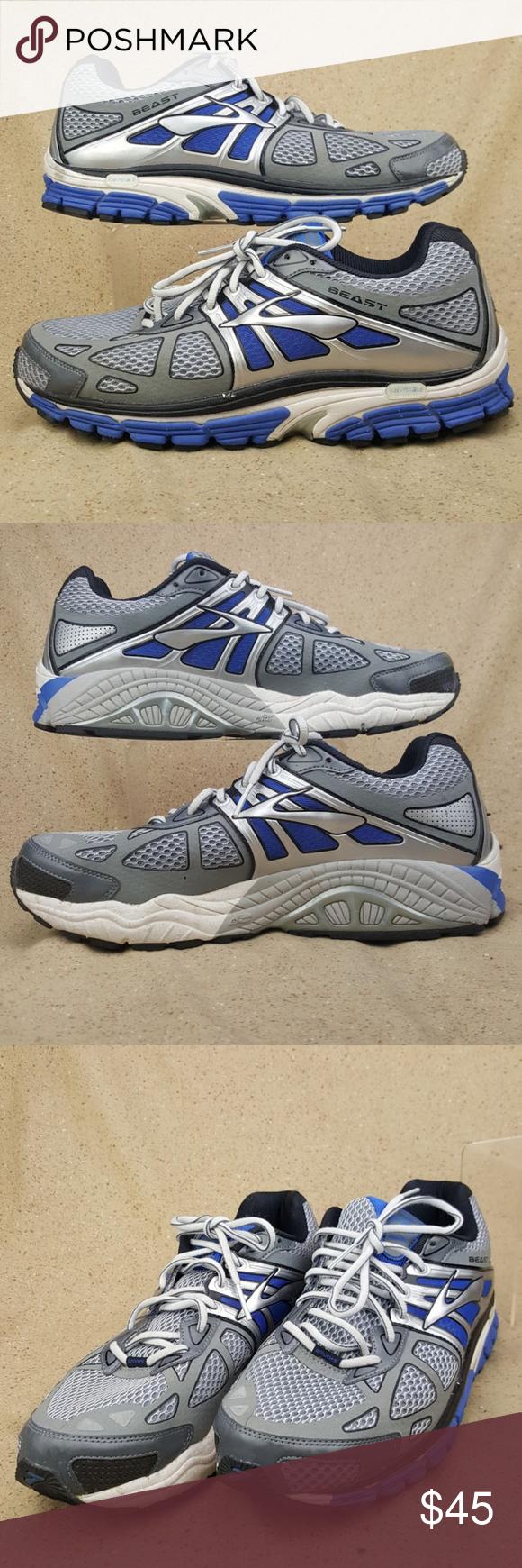 e3a08311b7e58 Brooks Beast 14 Running Shoes Men s Size 12 2E Brooks Beast 14 Running Shoes  Blue Silver