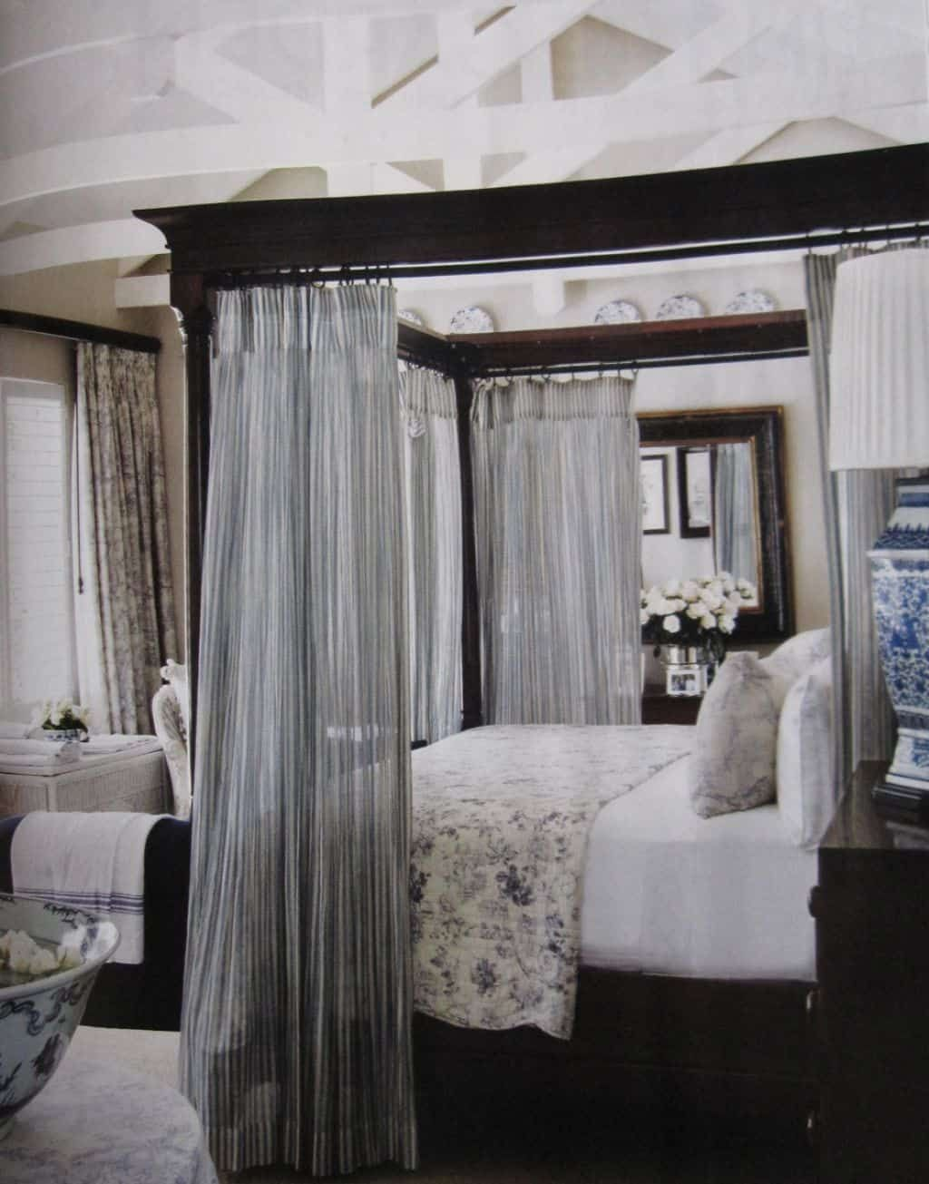 Hang Curtains In A Canopy Bed Master Bedroom Colors Bedroom
