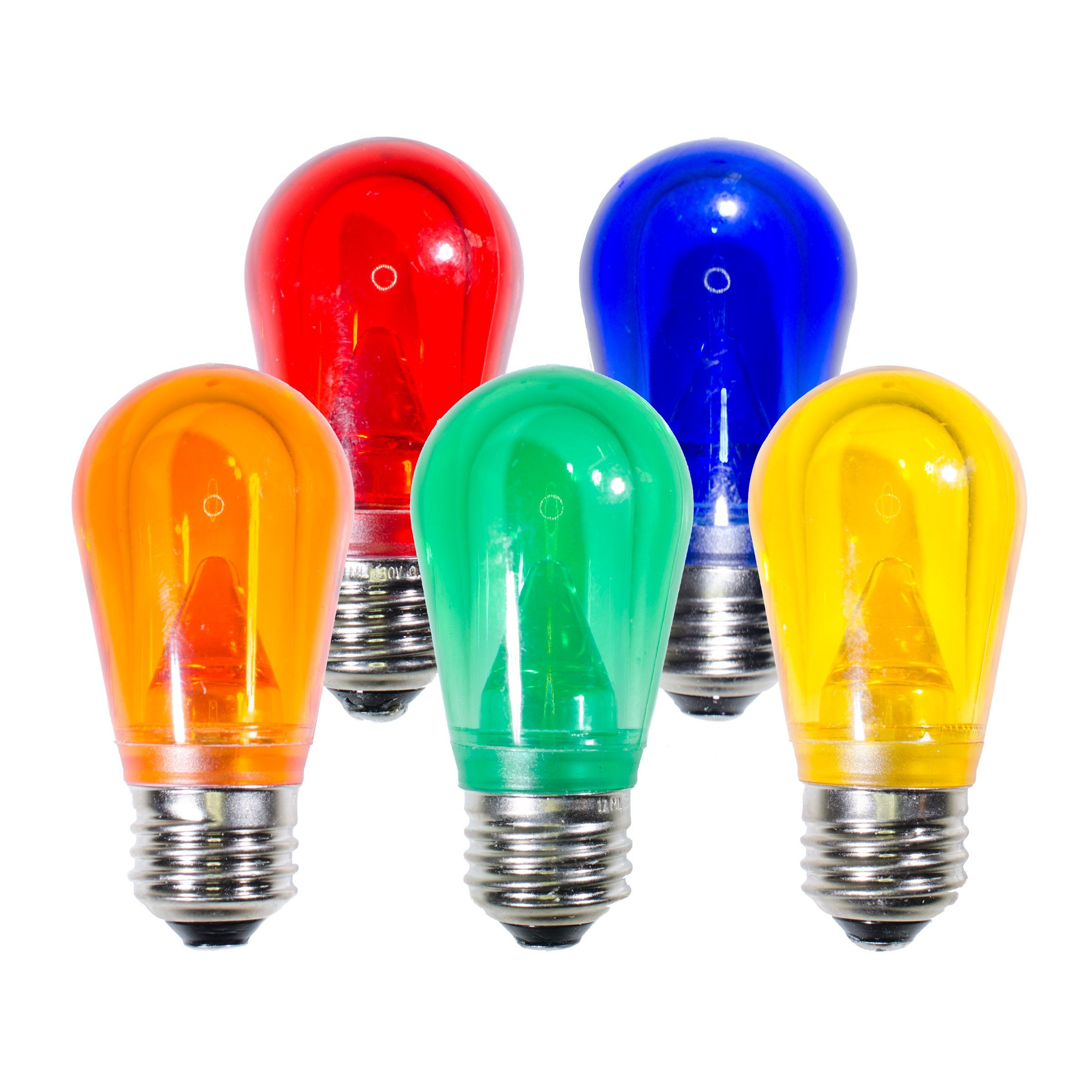 25 Multi Color Christmas Light Replacement Bulbs