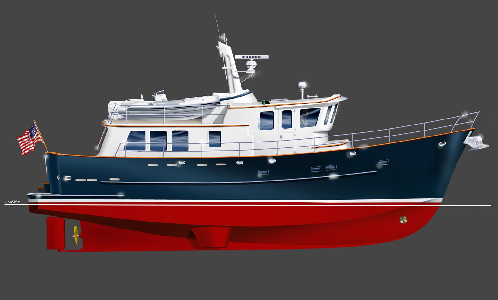 Neville Trawler - Products | Boat.model.design | Pinterest | Modern classic, Boating and Diesel duck