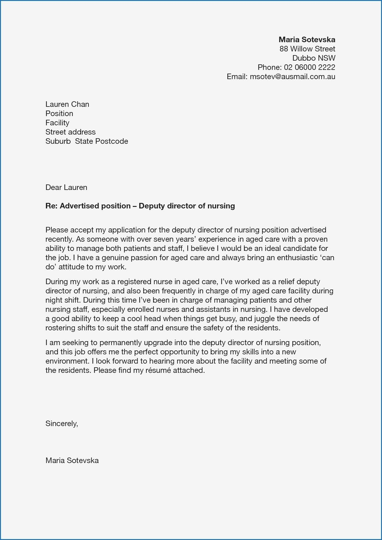 download fresh cover letter for aged care job