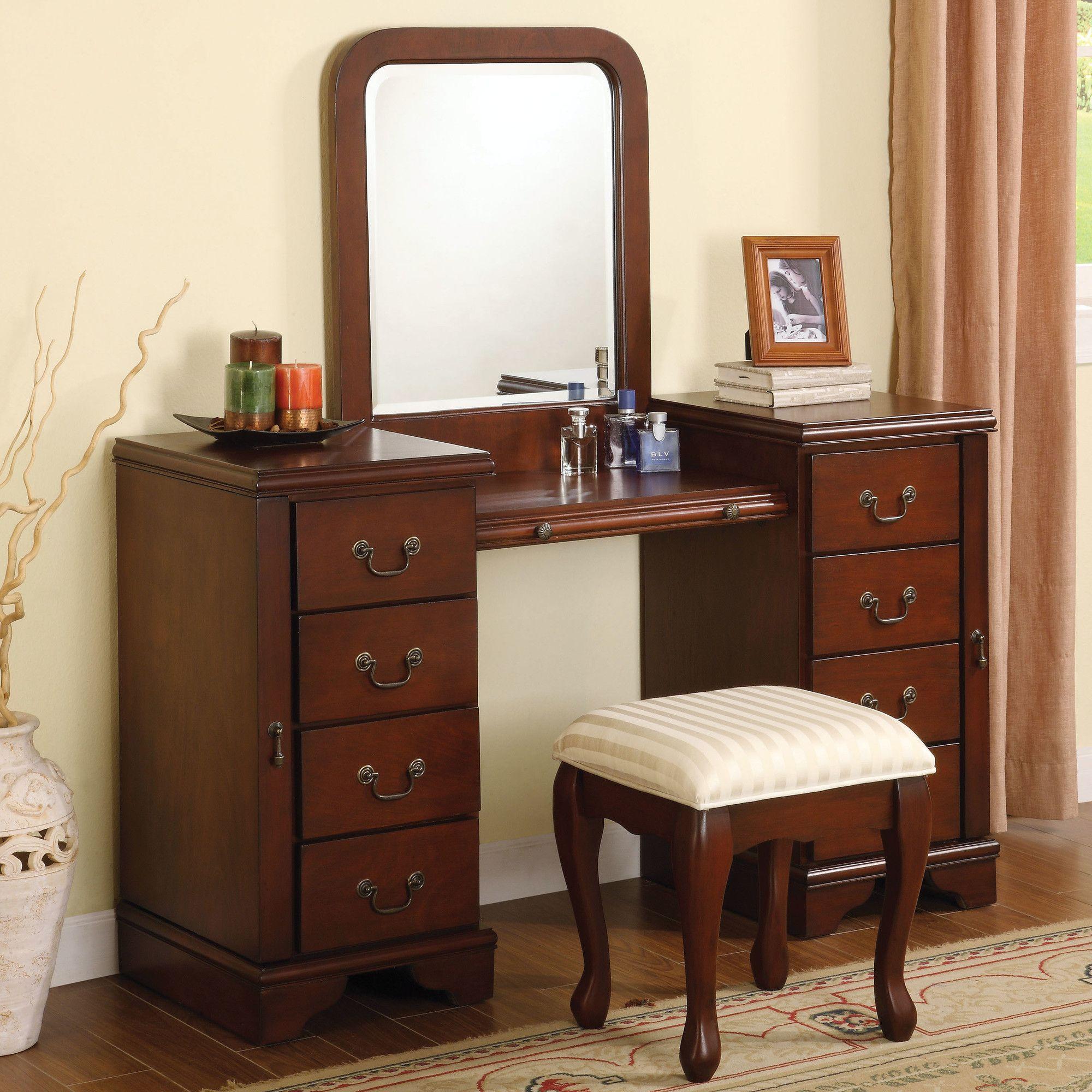 Louis phillipe vanity set with mirror wayfair furniture