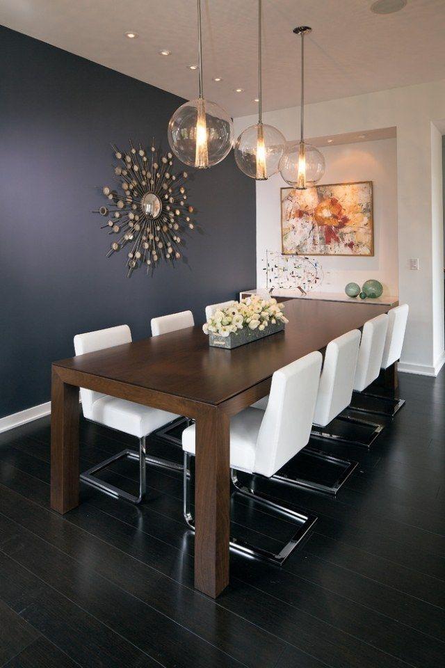 ideen möbel esszimmer holz esstisch weiße freischwinger stühle - moderne esszimmer einrichtung moebel ideen
