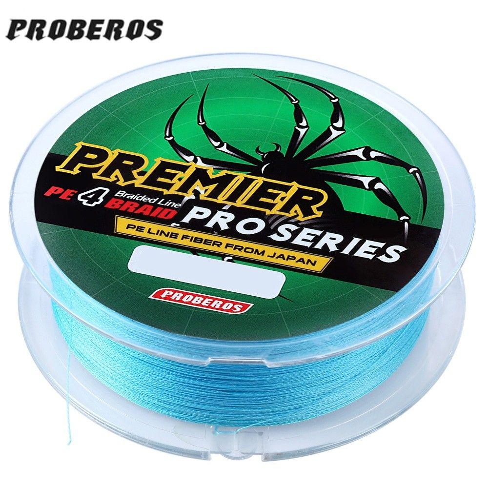 Proberos 100m durable colorful pe 4 strands monofilament
