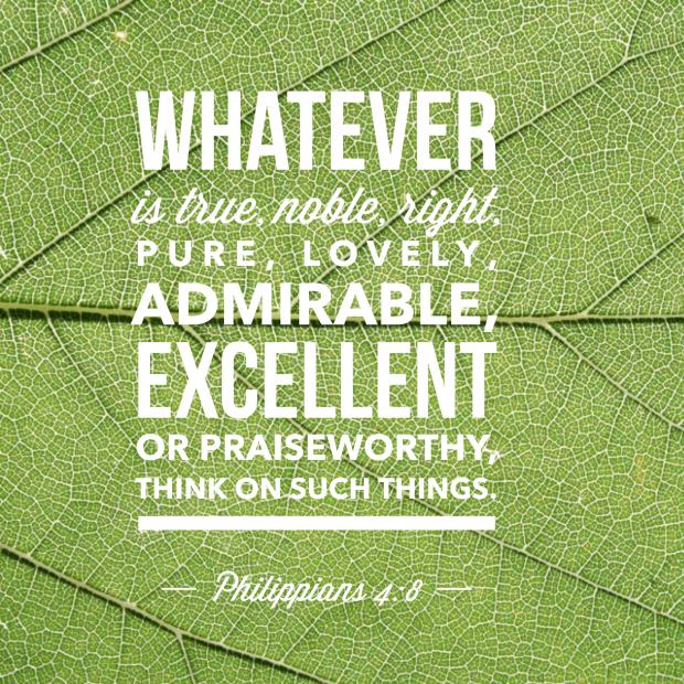 Philippians 4:8   [ bible verse, encouragement, praise, lovely, scripture, God's Word ]