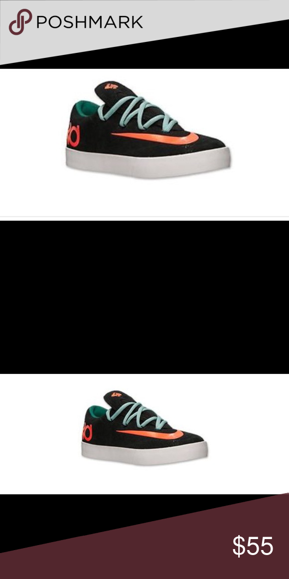 fc546f2364a Nike KD Vulc (GS) Youth Sneakers    NEW    Black hyper Crimson green low  top athletic shoes Nike Shoes Sneakers