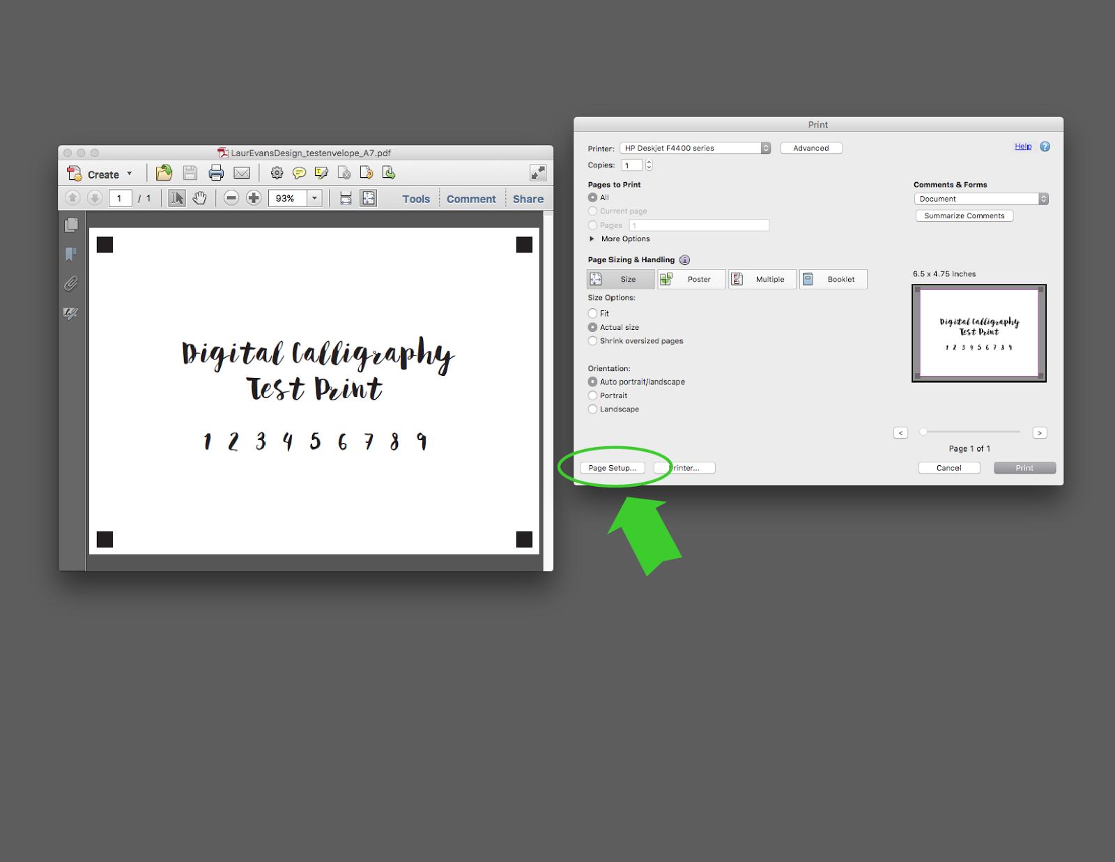 Lauren Evans Design - How to Print on A7 Envelopes | Wedding ...