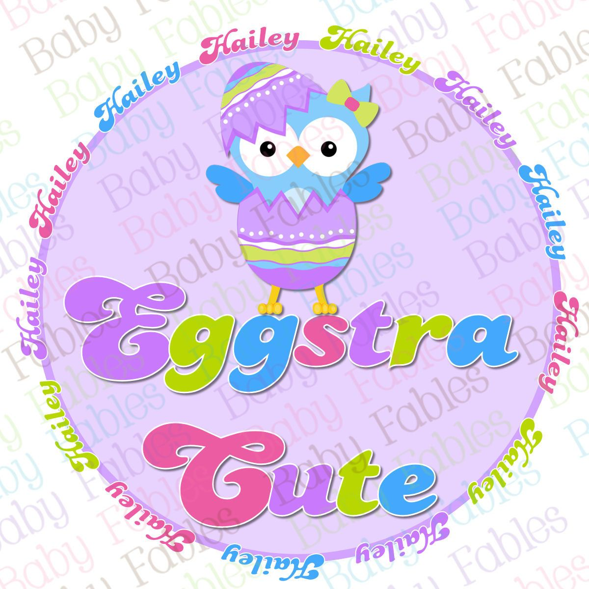 Easter Iron On Transfer Eggstra Cute By Babyfables On Etsy