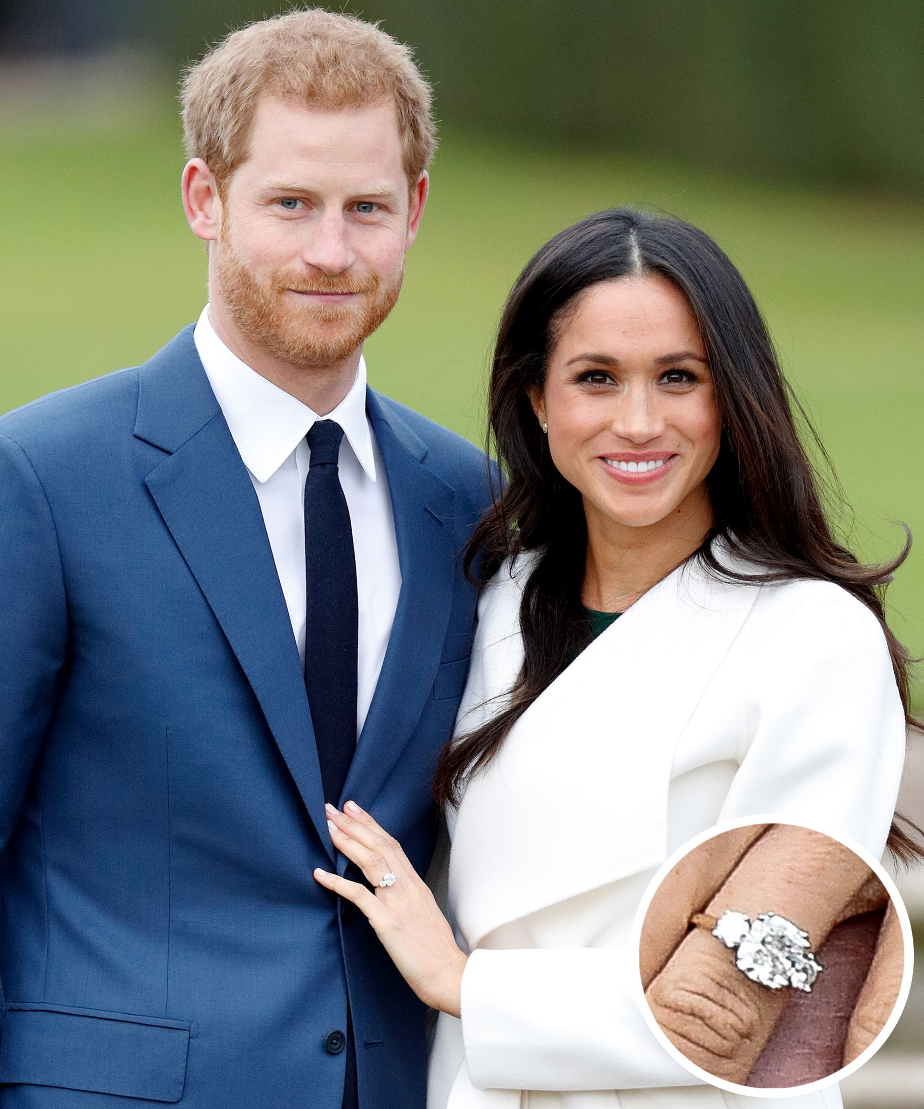 a pose in proud e rings meghan s she photograph shows markle us diamond engagement they ring as actress his fianc off diana designed harry britain with the sunken stands prince by royalty for her whilst fiance