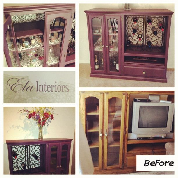 DIY entertainment center to bar | For the Home | Pinterest ...
