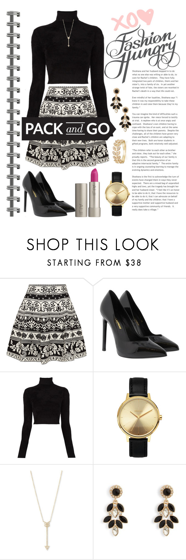 """Packing Up"" by csidlo17 ❤ liked on Polyvore featuring Alexander McQueen, Yves Saint Laurent, A.L.C., Nixon, EF Collection, Vera Bradley and Ross-Simons"