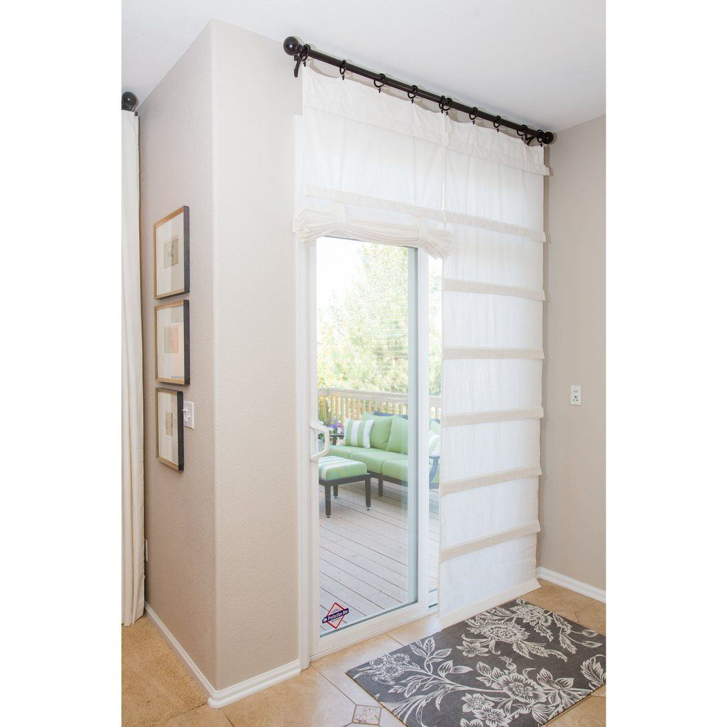 Sliding Doors Of Glass: Off White Sliding Glass Door Curtain Shade In 2019