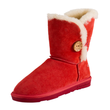 Red Gombe Wool Boots