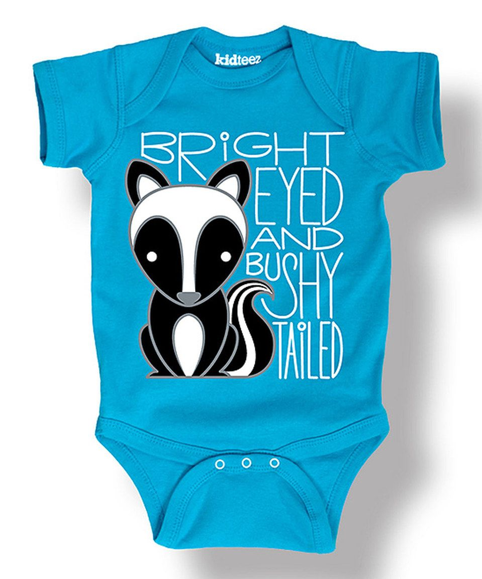 Loving this Turquoise 'Bushy Tailed' Skunk Bodysuit - Infant on #zulily! #zulilyfinds