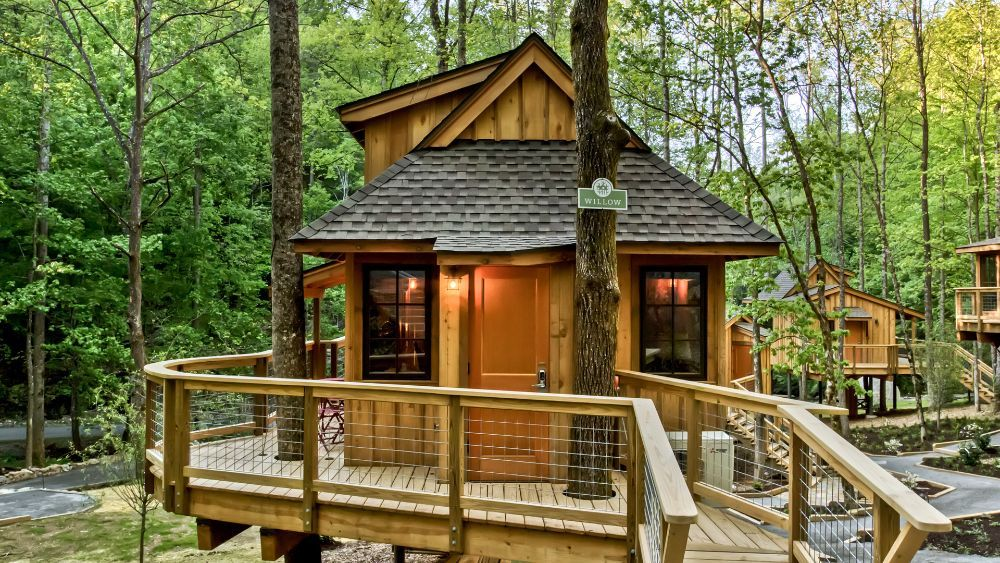 The Willow Treehouse Grove At Norton Creek Gatlinburg Tn Tree House Treehouse Cabins Stay In A Treehouse