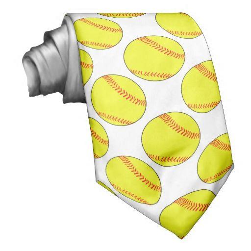 Custom #Softball Neck Tie