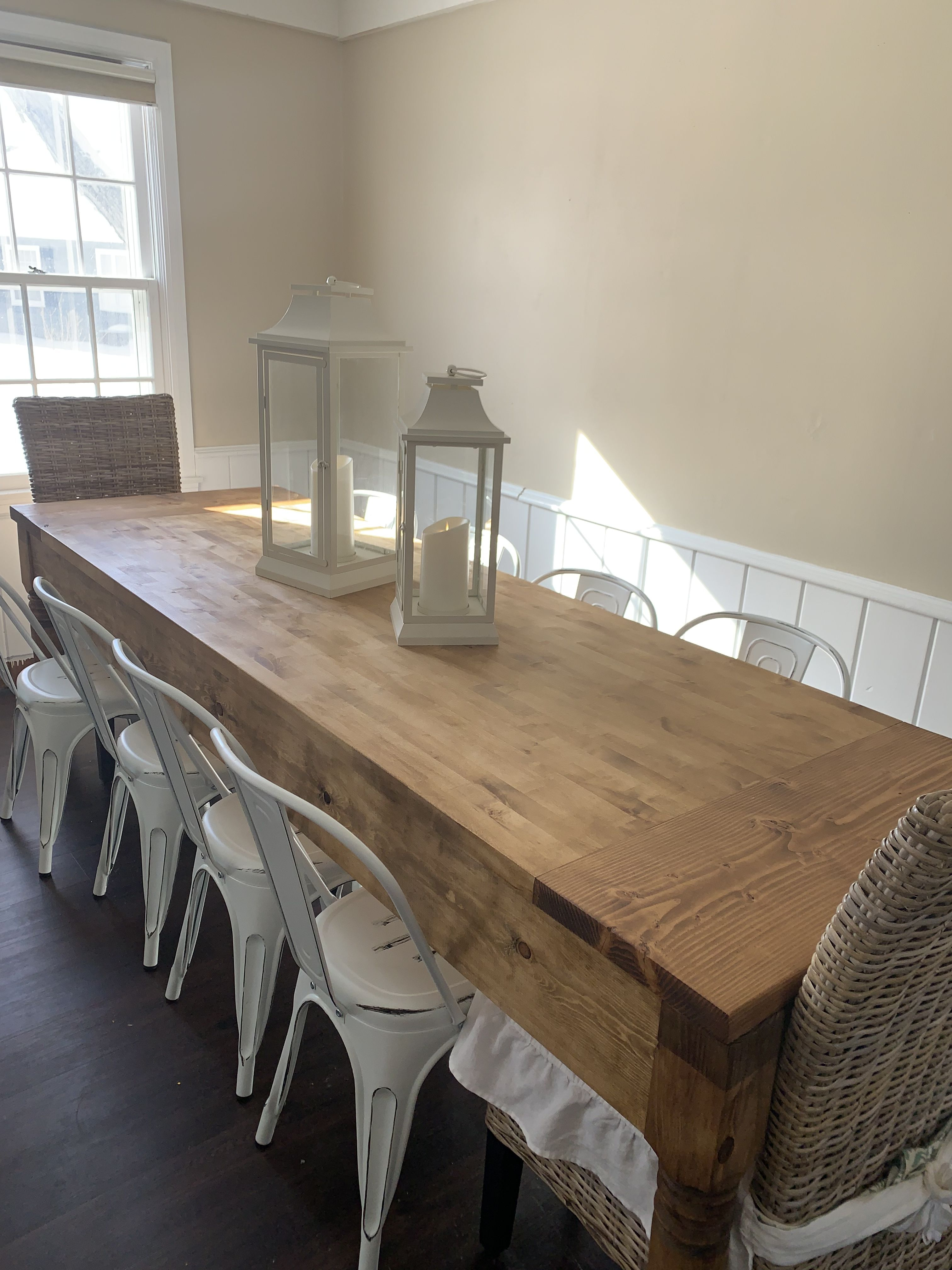 diy farmhouse dining table used anna white s plans with rh pinterest com