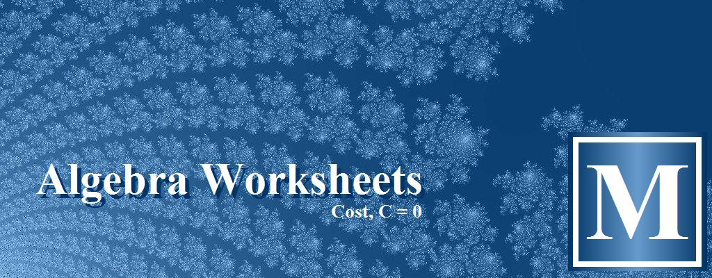 Free algebra worksheets from missing numbers and translating ...