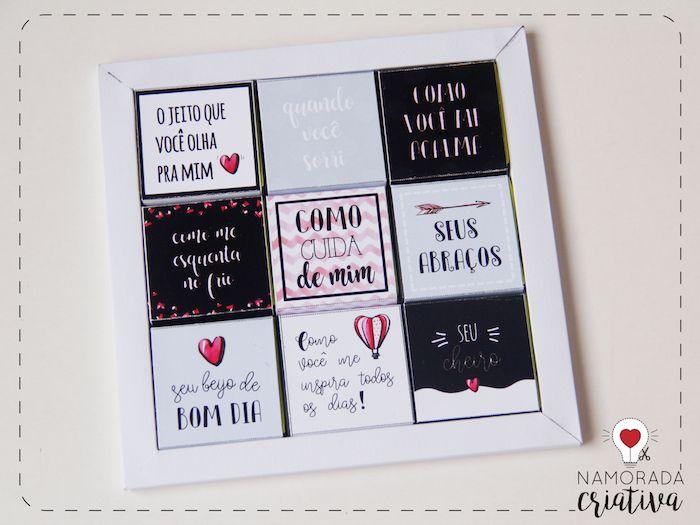Diy Cartao Chocolate 10 Coisas Que Eu Amo Em Voce Coisas