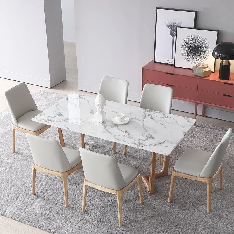 Pin By Sofia Dal On έπιπλα τραπεζαρίας Faux Marble Dining Table Dining Table Marble Modern Dining Table