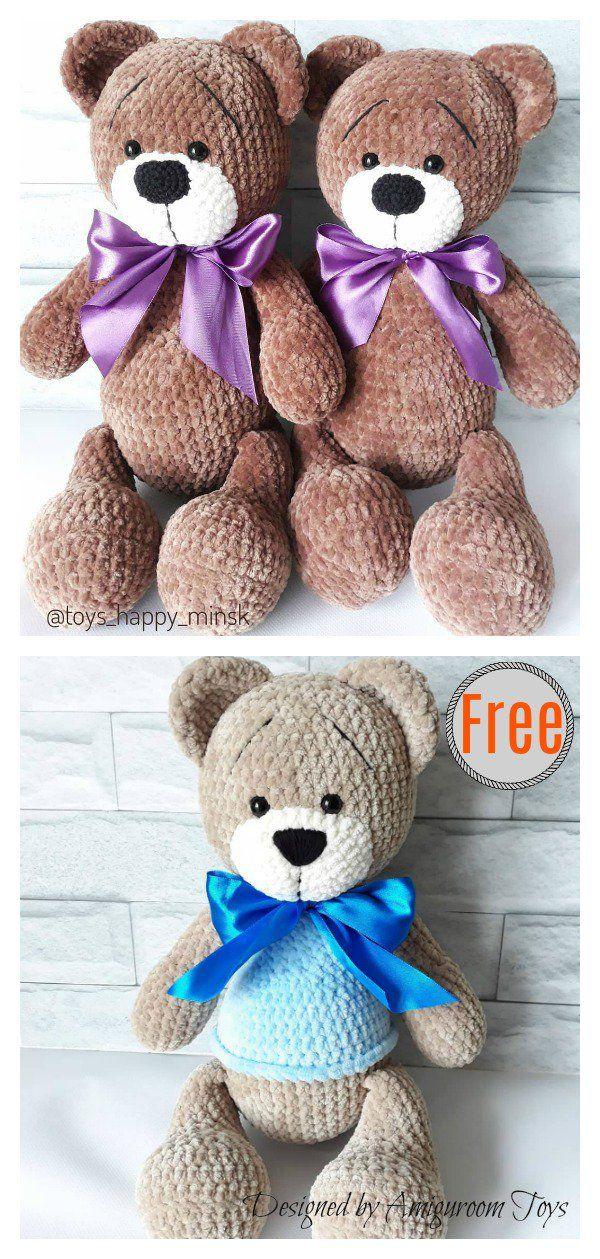 Amigurumi Plush Bear Free Crochet Pattern #crochetbear