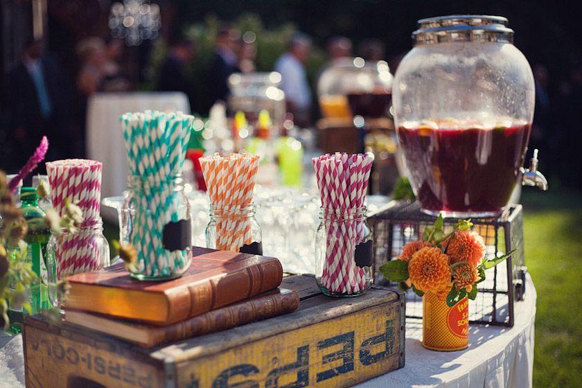 Cocktail Wedding Ideas: Vintage Wedding Reception Decoration Ideas
