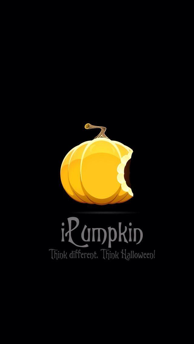 iPumpkin, think different! Apple Halloween wallpaper from