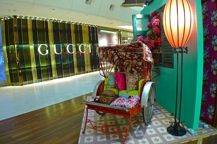 A Traditional Rickshaw At Gardens Mall Cny Decorations