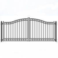 Dublin Dual Swing Iron Driveway Gate 14 X 6 3 Driveway Gate Driveway Iron Garden Gates