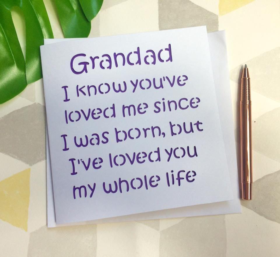 Grandad card fatherus day card fatherus day grandad card for