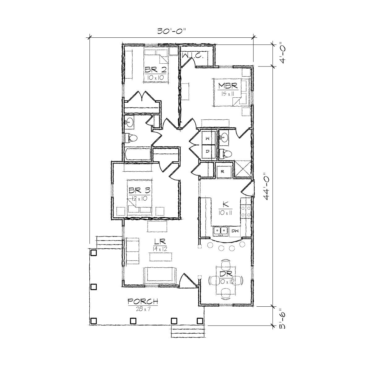 Bungalow Floor Plans bungalow country craftsman house plan 59198 Small Spanish Floor Plans Juniper I Bungalow Floor Plan