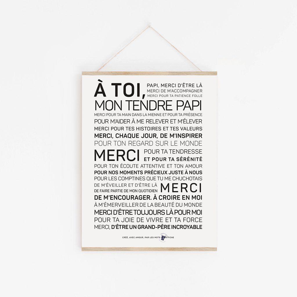 Parce Que Les Papis Ont Aussi Le Droit A Des Mots Doux L Affiche Est Disponible En Version A2 Pdf Et Carte Postale A Texte Inspirant Affiche Poeme En Prose