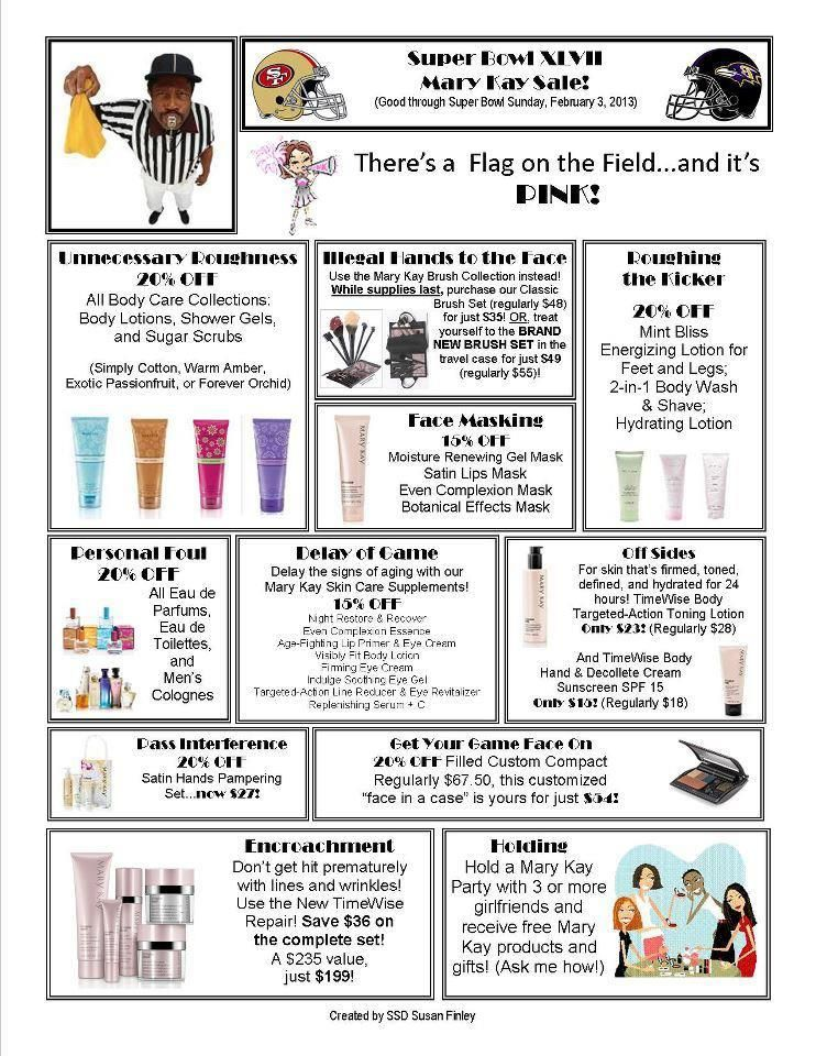 Mary Kay® Flyer for Super Bowl Sale Flyers Pinterest