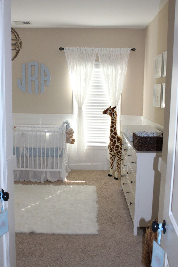 White Neutral Nursery For Baby Boy