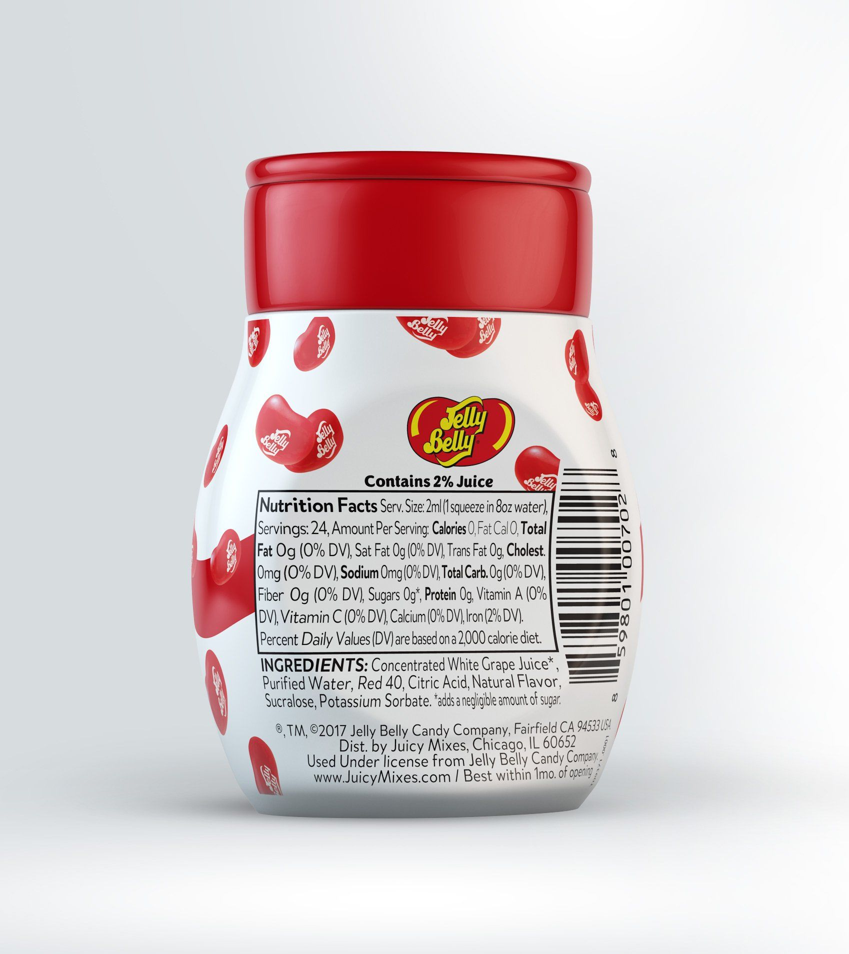 Jelly belly liquid drink mix variety pack naturally